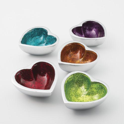 Mini Heart Shaped Aluminium Dish