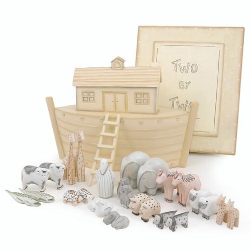 Boxed Wooden Noah's Ark Set