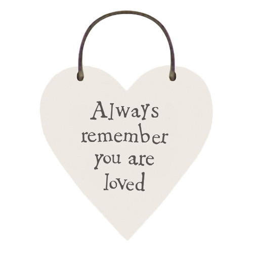 """Little Wooden Heart Tag """"Always Remember """""""