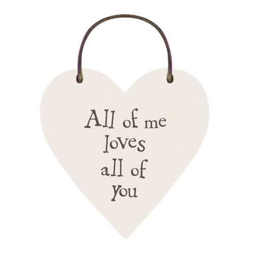 "Little Wooden Heart Tag ""All of me"""
