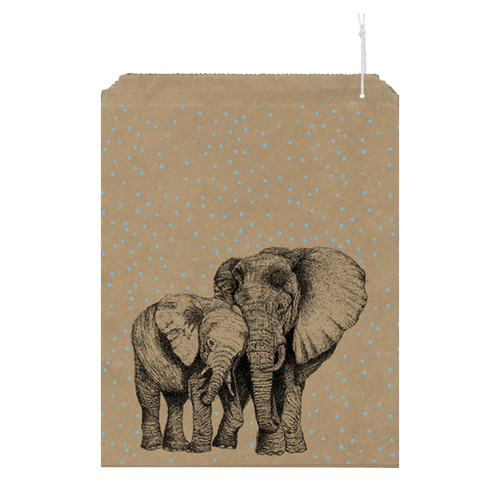 Paper Gift Bag Elephants