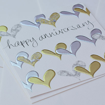 happy anniversary hearts card wenday jones blackett present company
