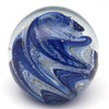Blueberry Snow Cone Glass Paperweight-Glow In The Dark