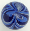 Blue Swirl Feather Paperweight/Glow In The Dark/Art Glass/Home Decor
