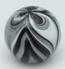 Black and White Feather Paperweight/Glow In The Dark/Art Glass/Home Decor