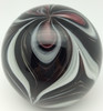 Glow In The Dark Black & White Paperweight/Hand Crafted/Home Decor