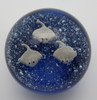 Stingray Glass Paperweight/Glow In The Dark/Handcrafted/Home Decor