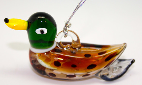 Mallard Duck Ornmanet/Blown Glass Art/Home Decor/Handcrafted