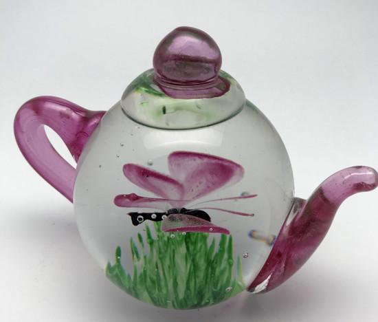 Teapot-Pink Butterfly Glow