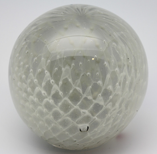 White Glowing Paperweight Very Large