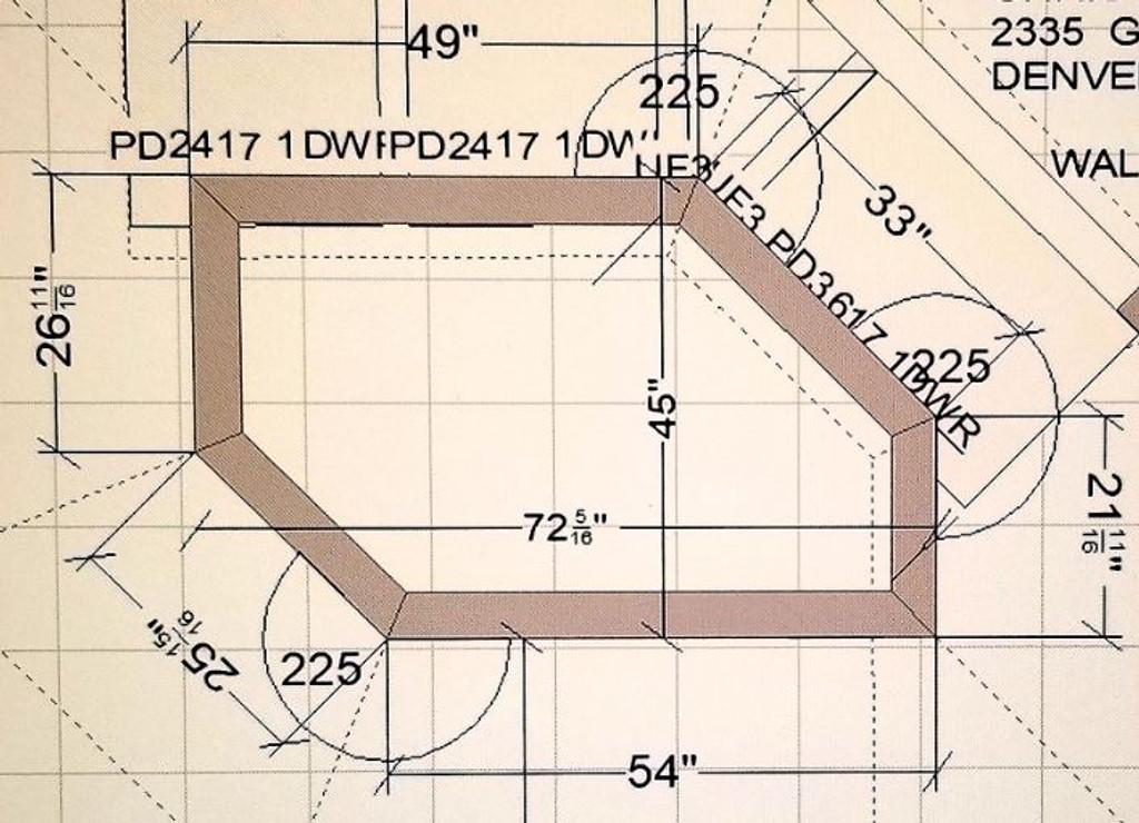 Custom Listing 8/06/2018 - Walnut Wide Plank Countertop - 50% Balance