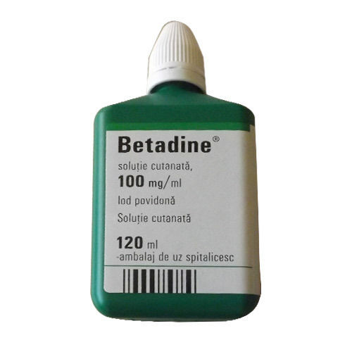 BETADINE IODINE FIRST AID SOLUTION ANTISEPTIC CUTS WOUNDS 120ml