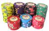 Tropic Oasis Poker Chip stacks