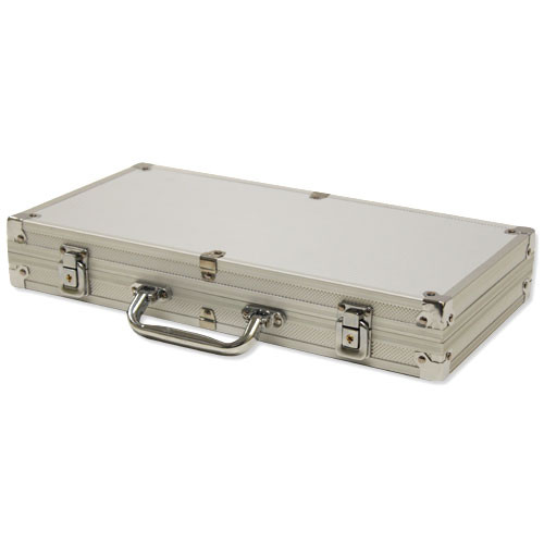 Aluminum poker chip case - 300 chip capacity