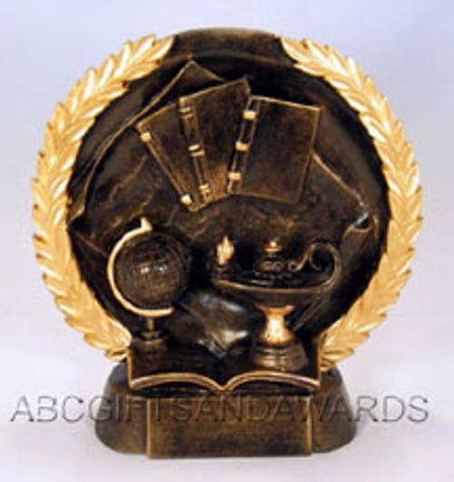 Academic Trophy - Round Resin