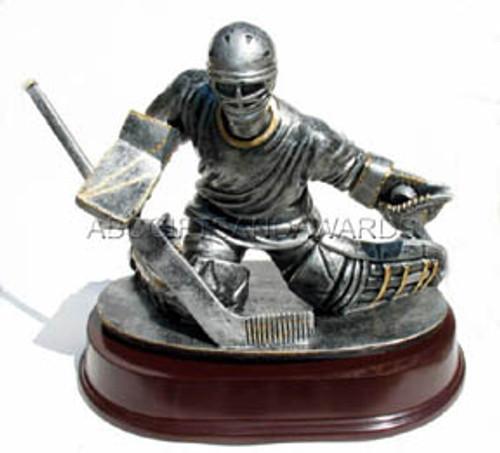 Large Ice Hockey Goalie Trophy