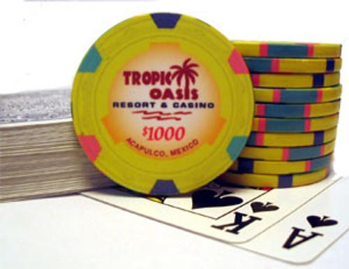 Tropic Oasis $1000 poker chip