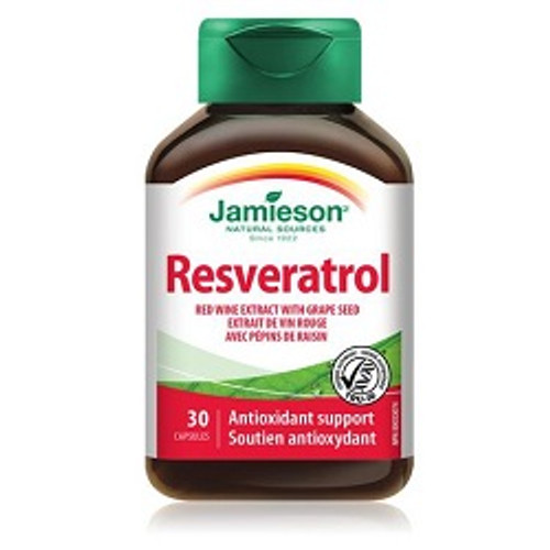 Jamieson Resveratrol Red Wine Extract with Grape Seed 30 Capsules