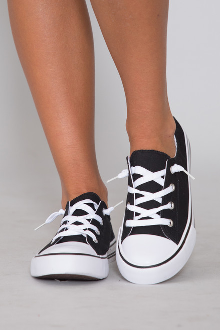 the bonnie knit sneakers black
