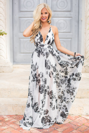 Boutique Floral Dress Explore Long Floral Print Dresses At Pink Lily Delectable Floral Pattern Bridesmaid Dresses