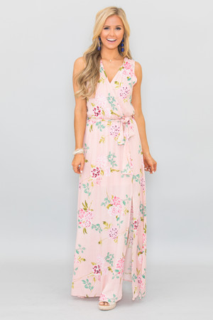 Boutique floral dress shop floral dresses pink lily blissfully kissed floral maxi dress mightylinksfo