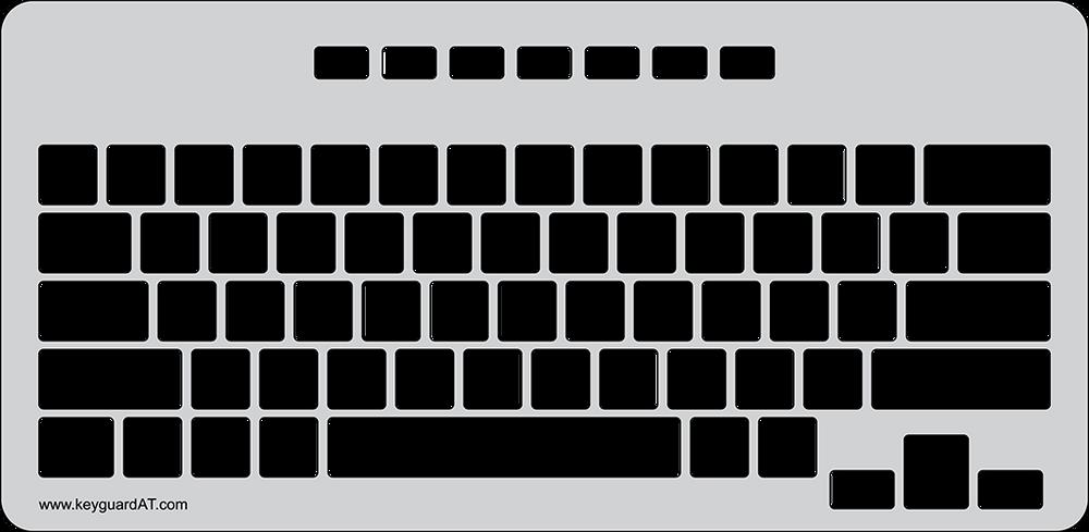 Keyguard for the Belkin Secure Wired Keyboard.
