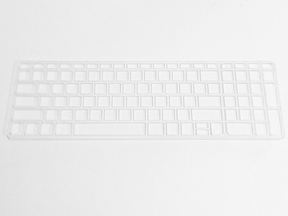 Keyguard in clear acrylic.