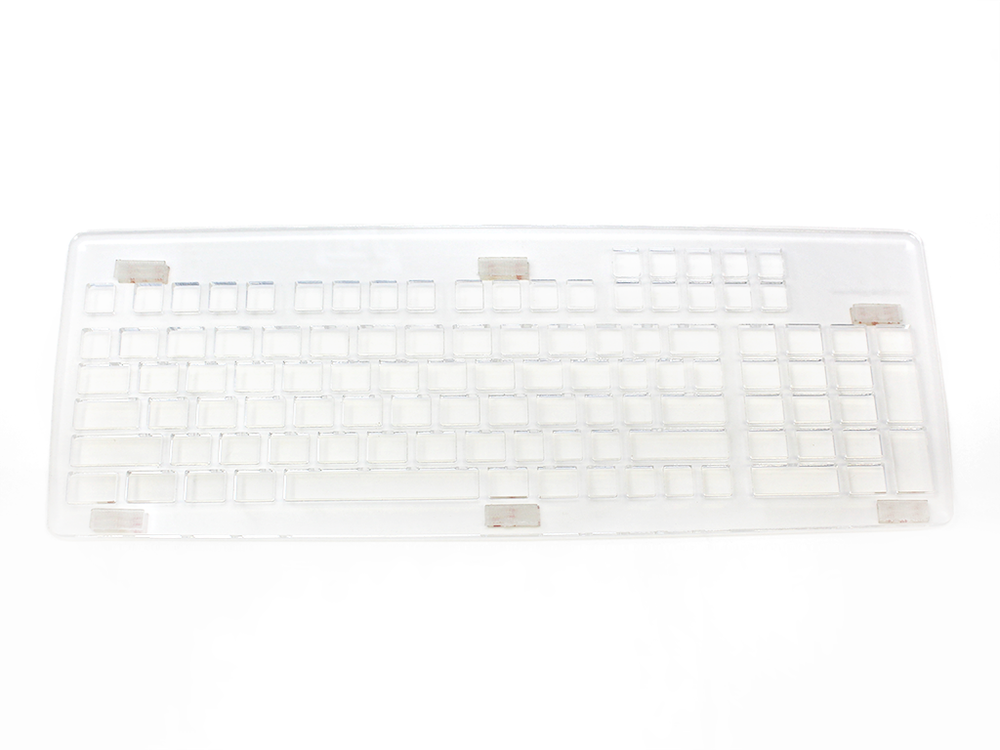 Keyguard for the MoreKeyboard with DualLock fasteners.