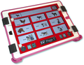 GoTalk Now with Express Bar and strap mount with red acrylic