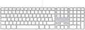 UK English version fits Apple Keyboard with Numeric Keypad - British