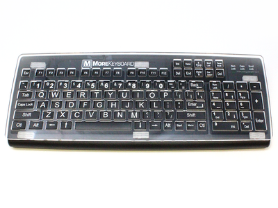 Fits the MoreKeyboard with DualLock fasteners.
