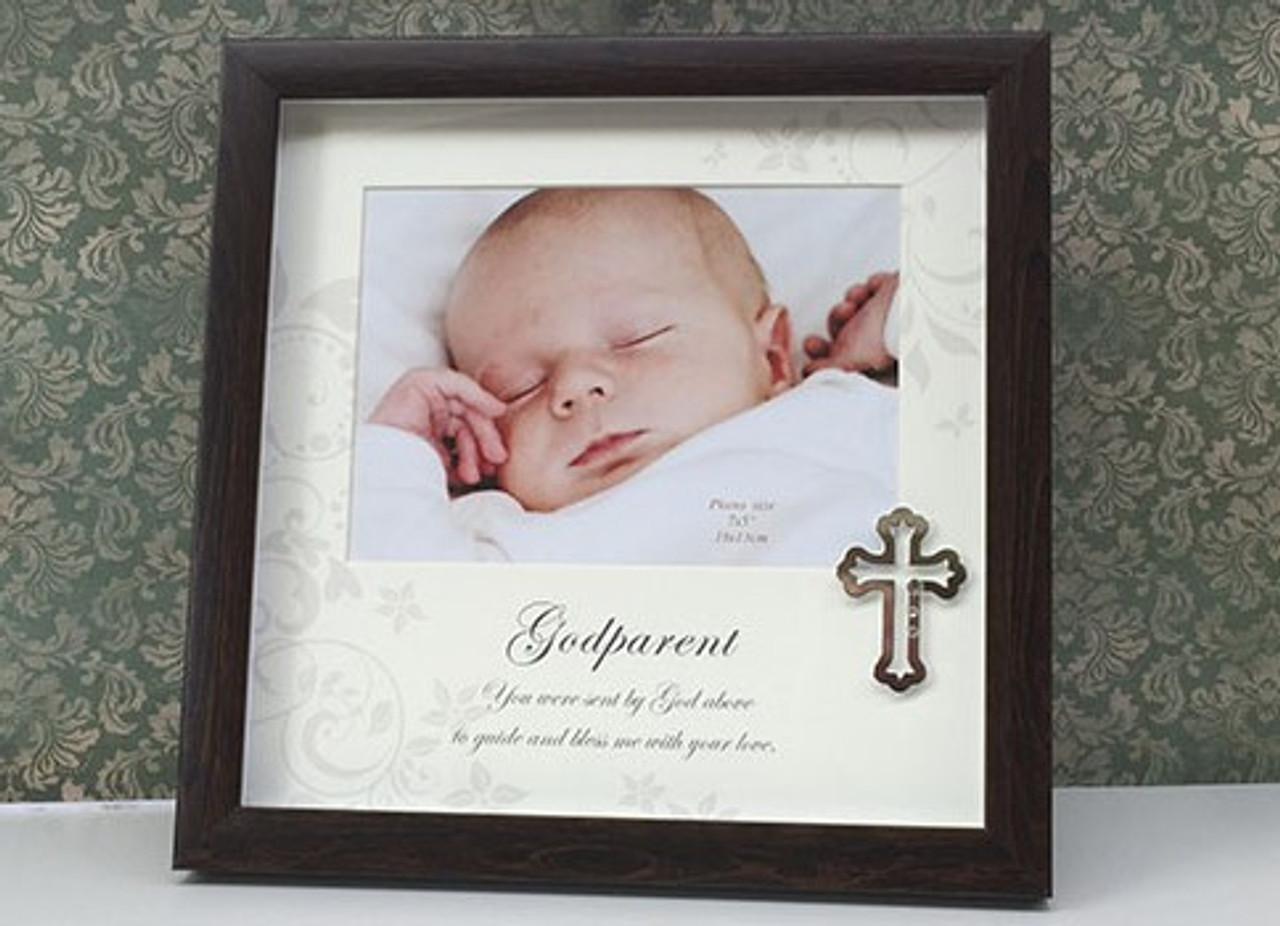 Godparent Wooden Photo Frame By Gifted Memories