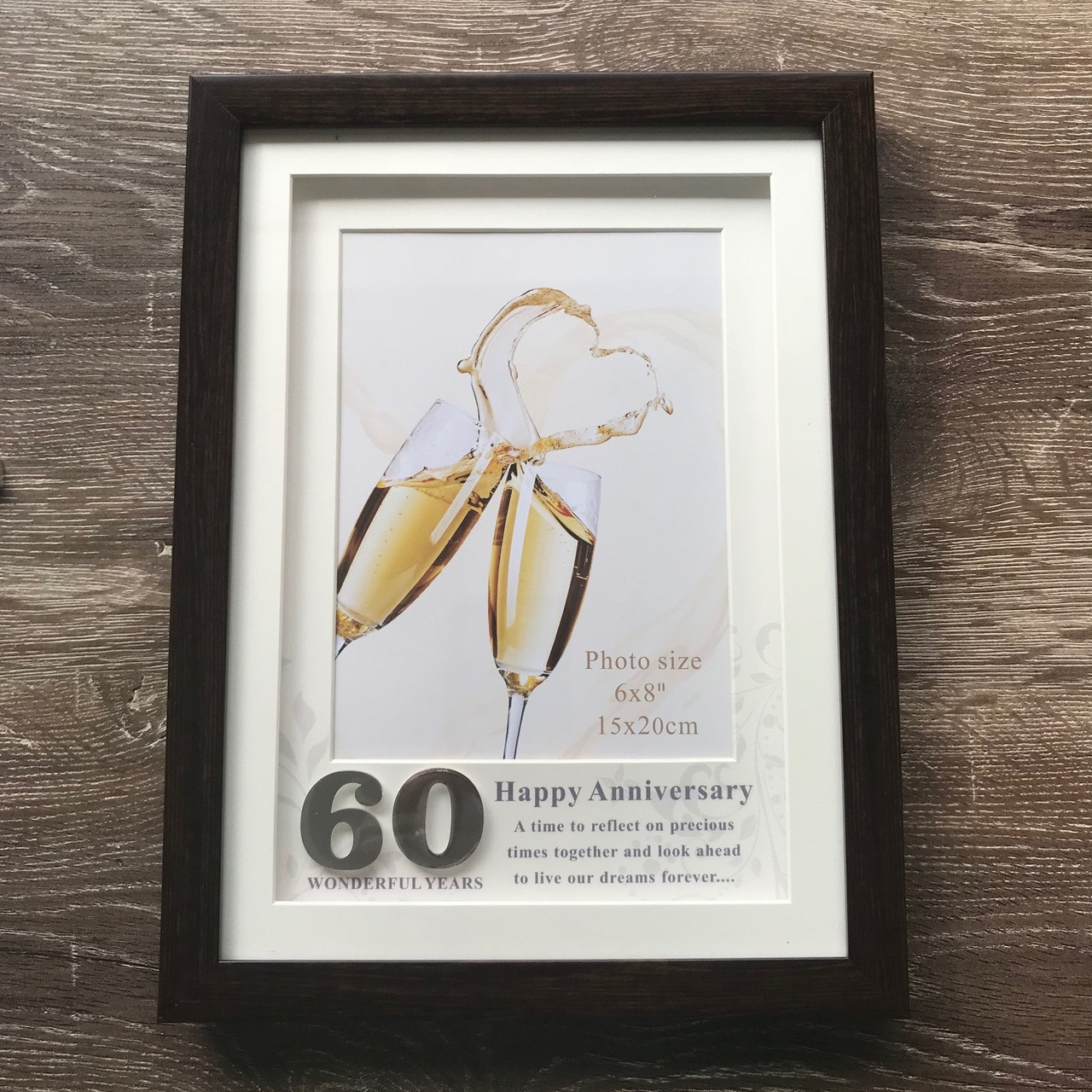 60th Wedding Anniversary Photo Frame By Gifted Memories
