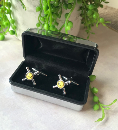 Men's Cufflinks - Hot and Cold Taps