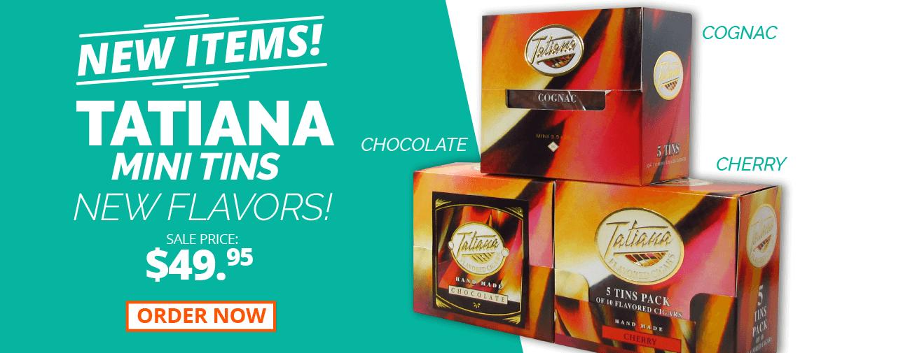 Tatiana Cigars Mini Tins New Flavors now in stock