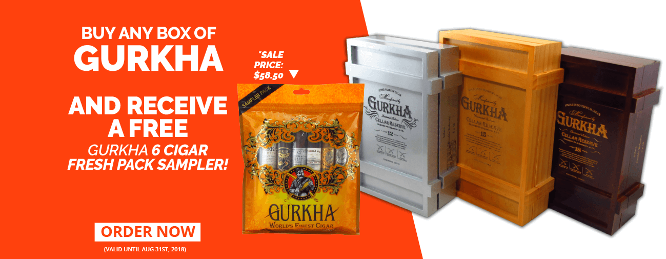 Gurkha Cigars buy one get a gift!