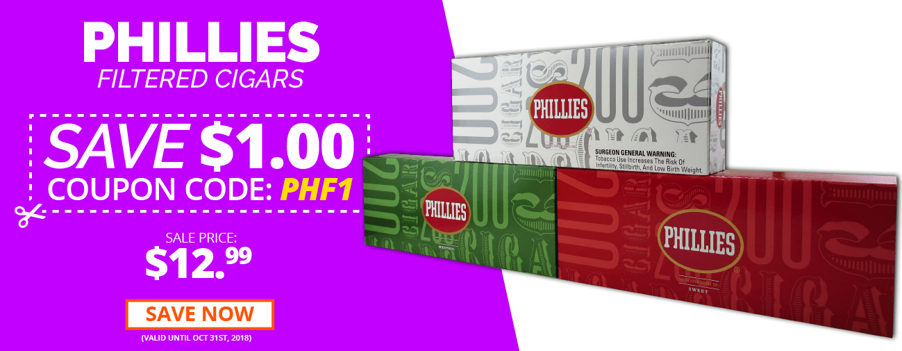 Phillies FIltered CIgars Discount Coupon Code
