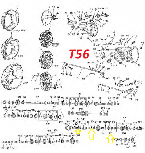 T56 TRANSMISSION SNAP RING FOR REVERSE SYNCHRO & THRUST