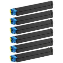 Compatible Okidata 42103001 Laser Toner Cartridge Black 6 Pack