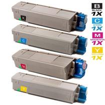 Compatible Okidata Laser Toner Cartridges 4 Color Set (43324477/ 43324476/ 43324475/ 43324474)
