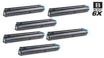 Compatible Okidata 43502301 Laser Toner Cartridges Black 6 Pack