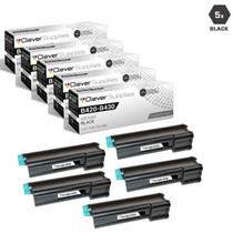 Compatible Okidata 43979201 Laser Toner Cartridges High Yield Black 5 Pack