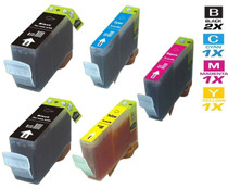 Compatible Canon BCI-3e Ink Cartridges 2 Black and CMY - 5 Color Set