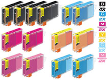 Compatible Canon BCI-6 Ink Cartridges 4 Black and 2xCMY/ 2XPC/ PM - 14 Color Set