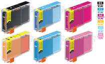Compatible Canon BCI-6 Ink Cartridges KCMY/ PC/ PM - 6 Color Set