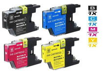 Compatible Brother LC75 Premium Quality InkJet Cartridge 4 Color Set (LC75BK/ LC75C/ LC75M/ LC75Y)