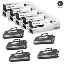 Compatible Brother TN360 Premium Quality Laser Toner Cartridge High Yield Black 5 Pack