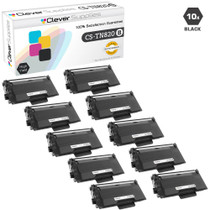Compatible Brother TN820 Laser Toner Cartridge Black 10 Pack