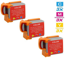 Compatible Canon BCI-11C Ink Cartridge Color 3 Pack