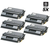 Compatible Xerox DocuPrint N2125B Laser Toner Cartridges Black 5 Pack
